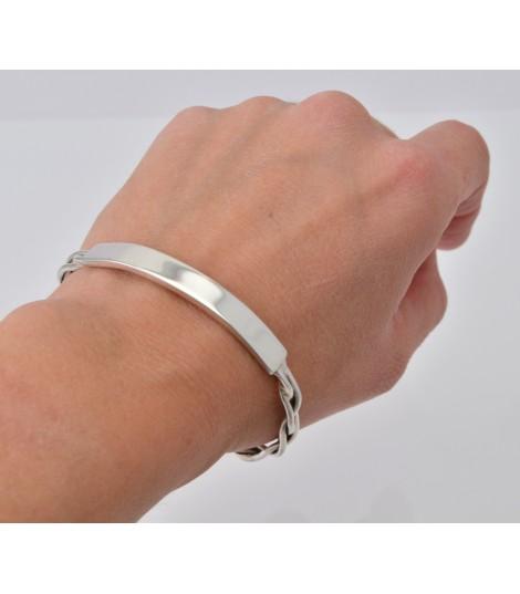 Identité - Bracelet Rigide Argent