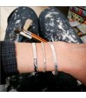 Noélie - Bracelet rigide Argent