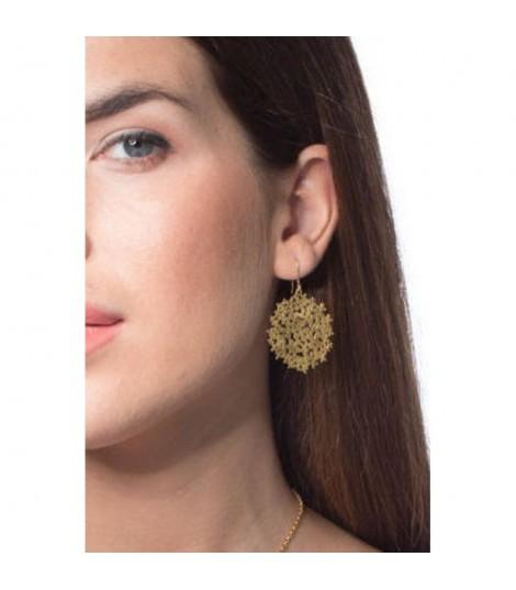 Hortensias S - Boucles d'oreilles plaqué argent