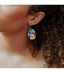 Cubisme - Boucles d'oreilles argenté ou doré