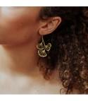 Ginkgo 3 - Boucles d'oreilles argenté ou doré