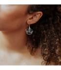 Ginkgo 2 - Boucles d'oreilles dorées