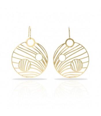 Astres Ronds - Boucles d'oreilles dorées