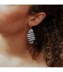 Ruban - Boucles d'oreilles dorées ou argentées