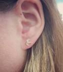 Elena Pierre de Lune - Boucles d'oreilles dorées