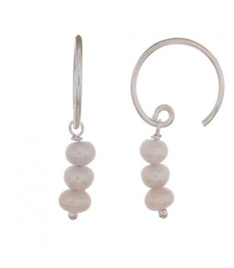 Perla - Boucles d'oreilles argent